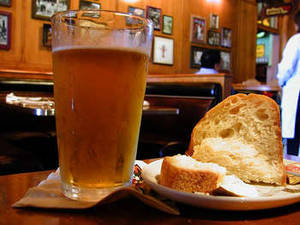 Free Photo of A Pint of Beer and Crusty Bread