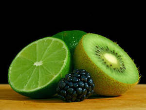Free Photo of A Lime, A Kiwi and a Blackberry