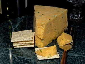 Free Photo of Cotswold Double Gloucester Cheese and Crackers. Click Here to Get Free Images at Clipart Guide.com