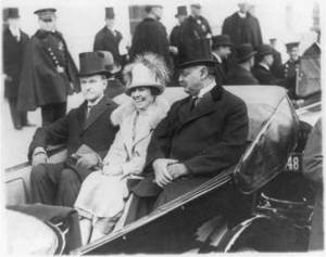 Free Photo of Calvin Coolidge, His Wife and Senator Curtis Going to His Inauguration,
