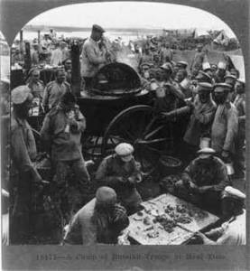 Free Photo of Russian Troops At Mealtime, 1919