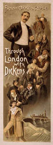 "Free Picture of a Showbill for Frank Oakes Rose's ""Through London with Dickens"""