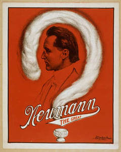 Free Picture of Newmann the Great Playbill, Red with White Question Mark
