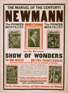 Free Picture of Newmann the Great Playbill for His Show of Wonders