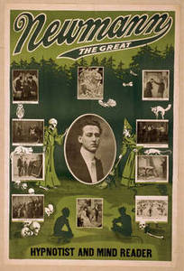 Free Picture of Newmann the Great Playbill, Green with Pictures
