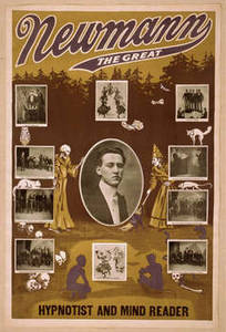 Free Picture of Newmann the Great Playbill with Vignettes of Performances