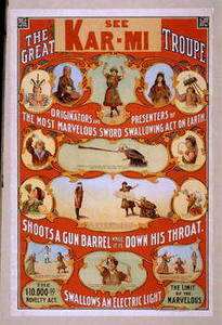 Free Vintage Picture Ad for the Great Kar-mi Troupe Novelty Act, 1906