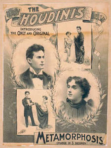 Free Vintage Picture of The Houdinis Theatrical Poster, 1895