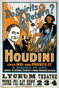Free Vintage Picture of a Houdini Theatrical Poster, 1909