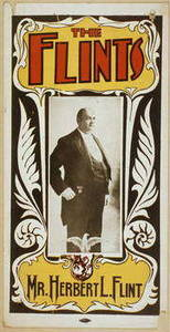 """Free Picture of a Theatrical Poster for the Hypnotists """"The Flints"""", 1899"""