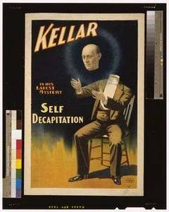 Free Picture of A Vintage Poster for Kellar the Magician, Self Decapitation