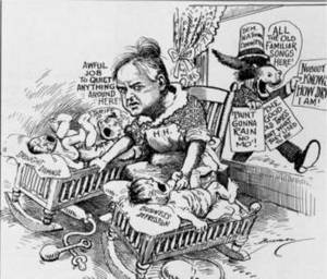 Free Picture of a Herbert Hoover Satyrical Cartoon