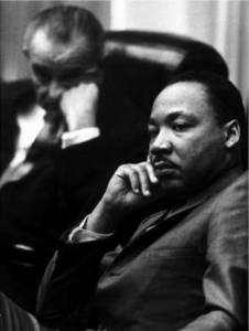 Free Picture of U.S. President LBJ and Martin Luther King, Jr., 1966