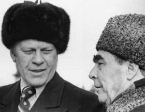 Free Picture of U.S. President Gerald R. Ford and Leonid Brezhnev, 1974