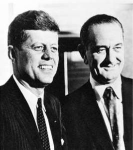Free Photo of  Kennedy and Johnson during 1960 Presidential Campaign