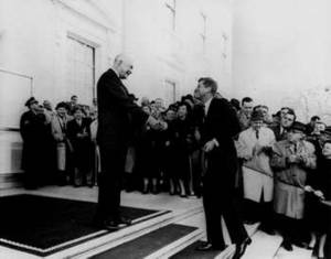 Free Photo of Eisenhower and President Elect Kennedy, 1960