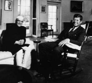 Free Picture of U.S. President John F. Kennedy and Indian Ambassador B.K. Nehru
