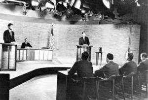 Free Picture of the First Televised Presidential Debate, Kennedy and Nixon