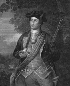 Free Picture of Washington Posed in Military Uniform