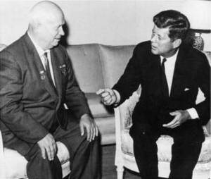 Free Photo of J.F.K  and Khrushchev, Vienna, 1961