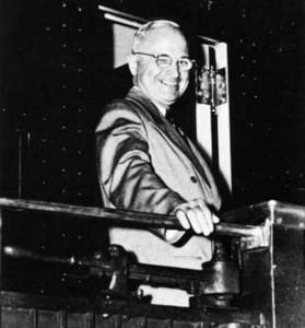 Free Photo of Harry S. Truman Campaigning From a Train, 1948