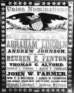 Free Picture of A Lincoln Presidential Campaign Poster, 1864