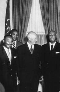 Free Picture of President Eisenhower, Martin Luther King, Jr. and A. Philip Randolph, 1958