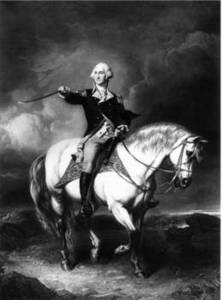 "Free Picture of George Washington ""Receiving a Salute on the Field of Trenton, 1776"""