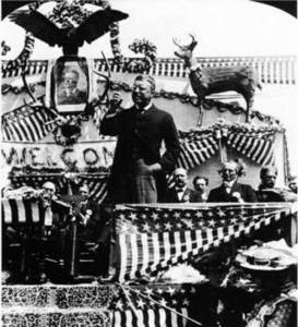 Free Photo of 26th President Theodore Roosevelt Campaign Speech, 1903