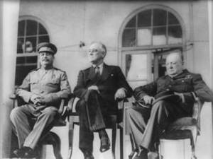 Free Photo of Franklin Roosevelt, Josef Stalin and Winston Churchill, 1943