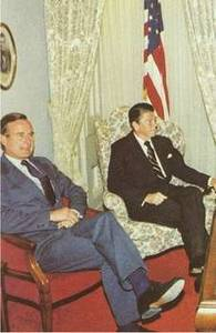 Free Photo of President Reagan and Vice President Bush