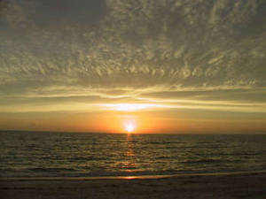Free Image of a Sunset at the Beach
