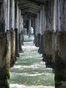 Free Picture of The Underside of a Wharf