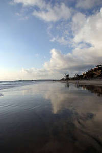 Free Photo of a Beach With Reflected Water