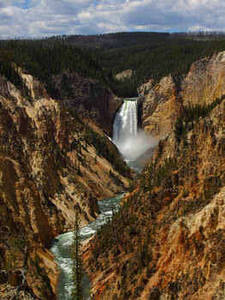 Free Photo of  Yellowstone Park Looking at Lower Falls