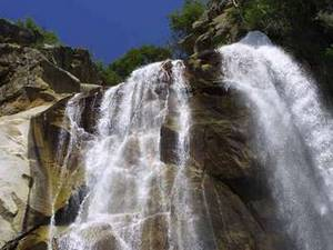 Free Image of Large Falls in Sequoia Natn'l Park