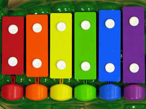 Free Picture of a Multi-Colored Xylophone