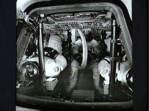 Free Black and White Picture of Astronauts