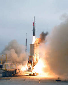 Free Photo of an Arrow-2 anti-Ballistic Missile Launch, July 2004