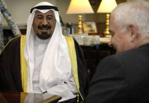 Free Picture of Robert Gates with His Excellency Muhammad al-Salim al Sabah
