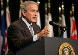 Free photo of Pres. George Bush at the CENTCOM Conference, Tampa Fl., 5/2007