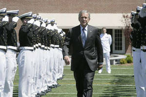 Free Photo of U.S. President George Bush, USCG Academy, New London, CT