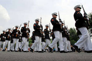 Free Photo of Marines Participating in Memorial Day Parade, Washington D.C.