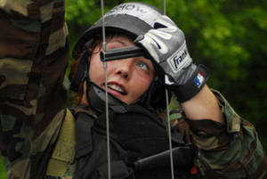 Free Picture of a Female Navy Sailor