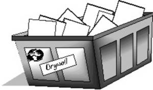 Free Clipart Picture of a Recycle Bin for Drywall