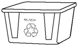 Free Clipart Picture Of A Recycle Bin