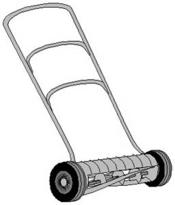 Free Clipart Picture of a Push-style Lawnmower