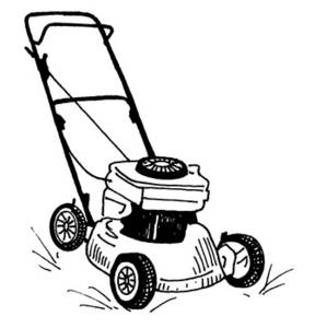 Free Clipart Picture of an Electric Lawnmower