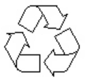 Free Clipart Picture of the Recycle Symbol