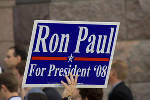 "Free Picture of a ""Ron Paul for President"" Sign"